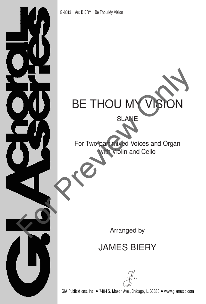 Be Thou My Vision Two Part Mixed Arr Jam Jw Pepper Sheet Music