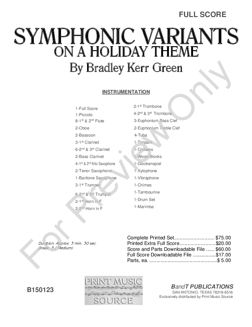 Symphonic Variants On A Holiday Theme Thumbnail