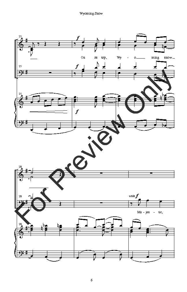 wyoming snow (satb ) by richard e brown  j.w. pepper sheet music  j.w. pepper