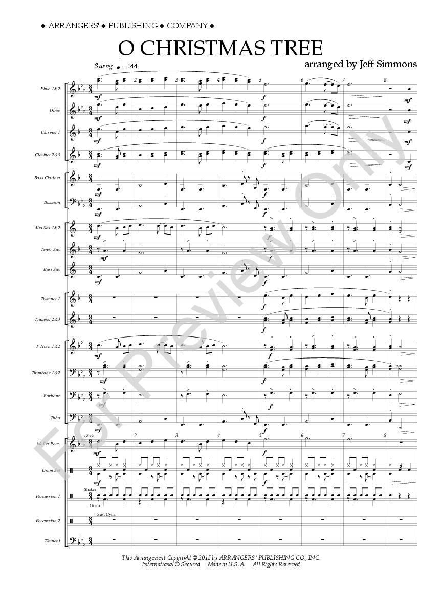 O Christmas Tree arr. Jeff Simmons| J.W. Pepper Sheet Music