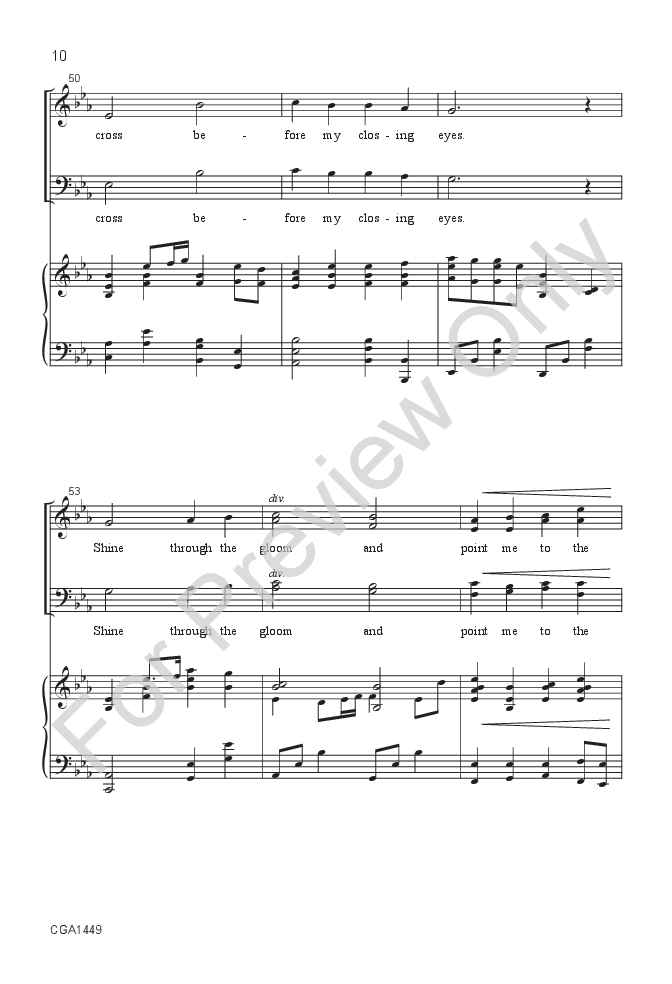 Abide With Me Satb Arr Brian L Hanson Jw Pepper Sheet Music