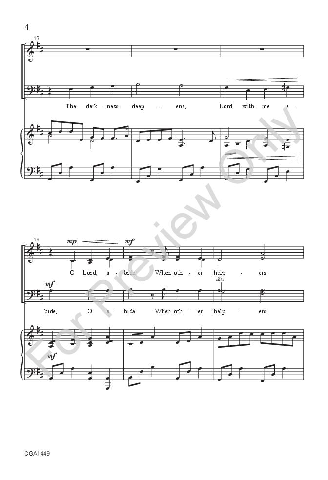 Abide With Me Satb Arr Brian L Hanson Jw Pepper Sheet Music