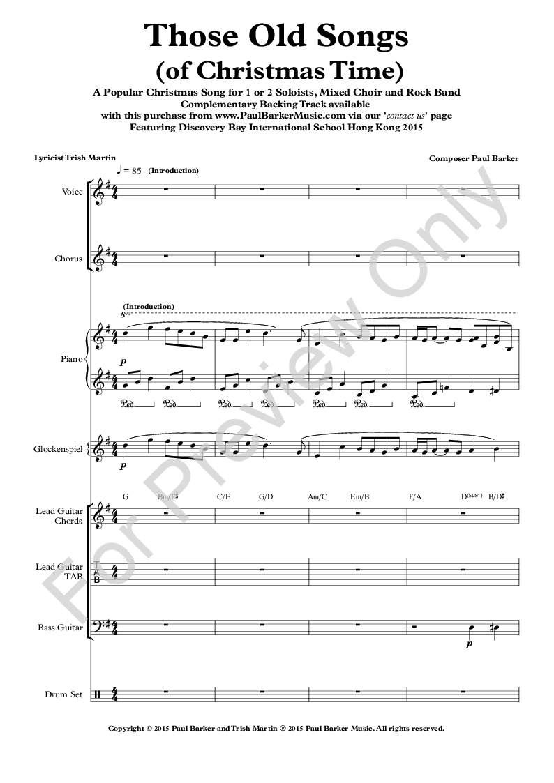 Those Old Songs (Of Christmas Time) (Instrumental | J.W. Pepper ...