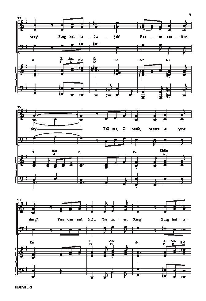 Hallelujah Resurrection Day Sab By Larr Jw Pepper Sheet Music