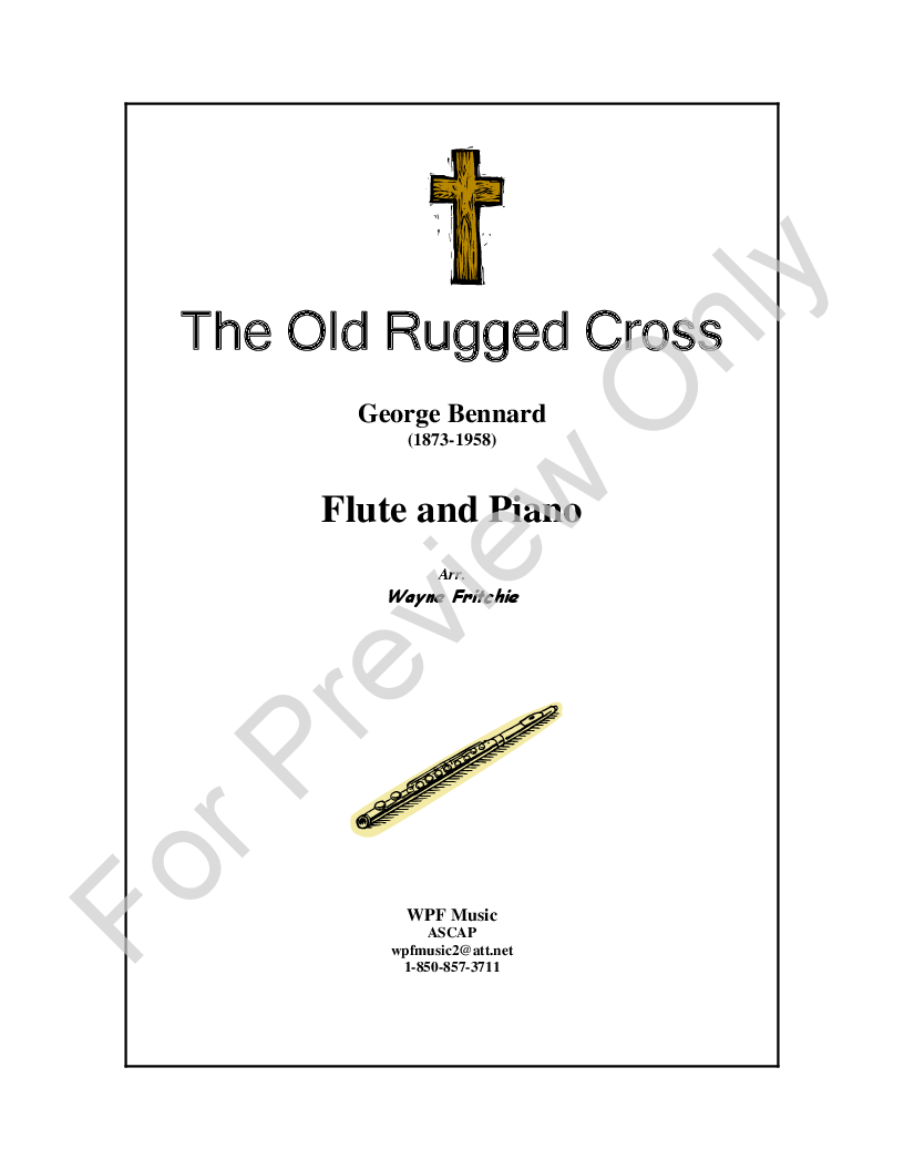 The Old Rugged Cross Flute Solo With Piano Jw Pepper Sheet Music