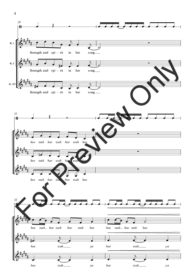 Voice on the Wind (SSAA ) by Sarah Quartel| J.W. Pepper Sheet Music