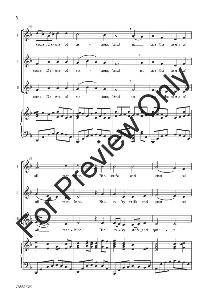 O Come O Come Emmanuel Sa Arr Jill Frie Jw Pepper Sheet Music