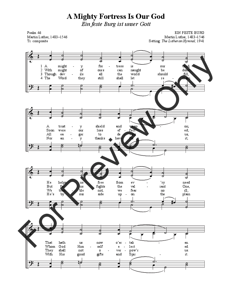 The Hymns of Martin Luther (SATB Choral Scor | J.W. Pepper Sheet Music