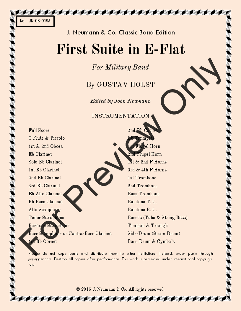 First Suite in E-Flat Thumbnail
