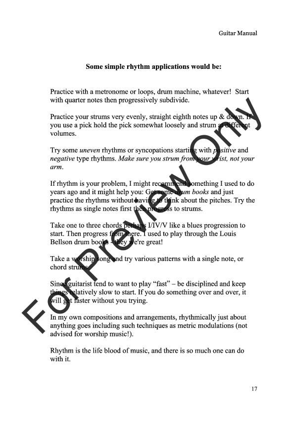 Guitar Tips by Ric Flauding  J.W. Pepper Sheet Music