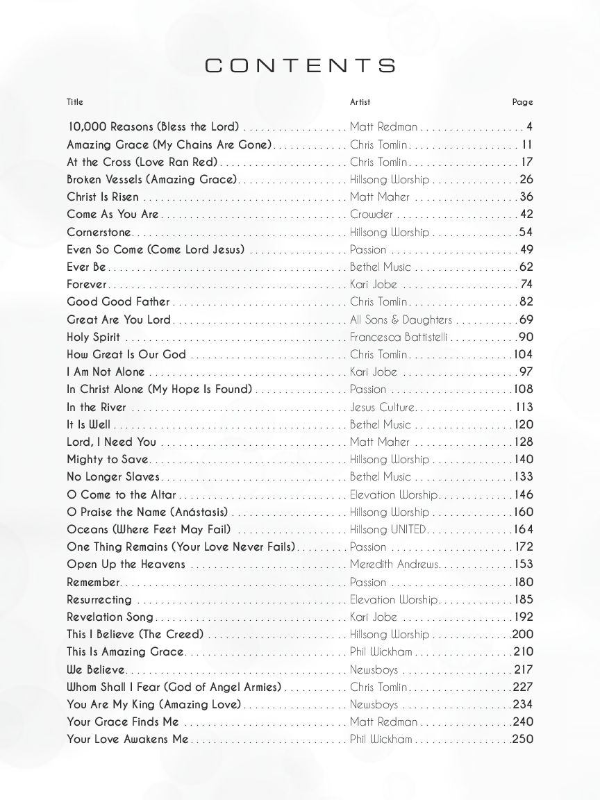 Modern Worship Song Collection By Various Compose Jw Pepper