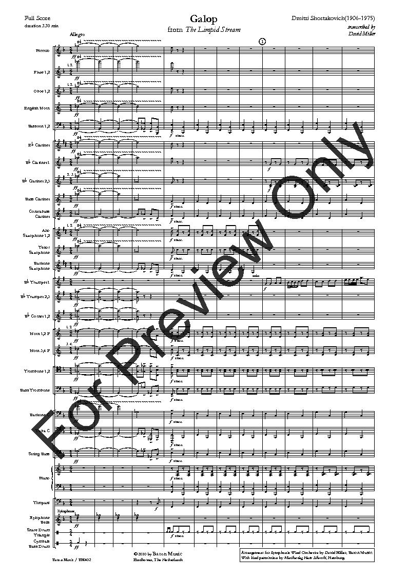 Galop from the Limpid <b>Stream</b> by Dmitri Shostakovi | J.W. Pepper ...