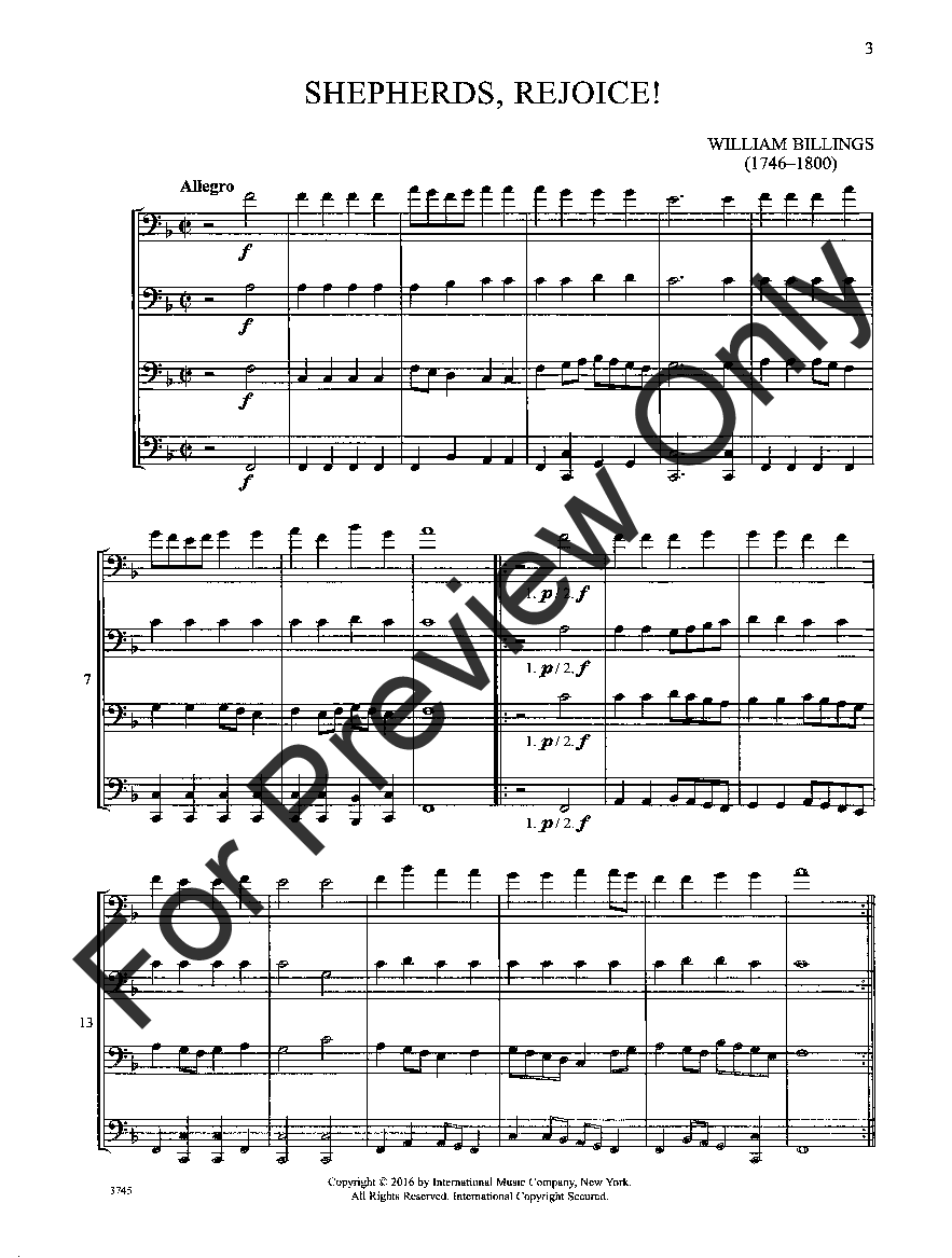 10 Old Christmas Carols, Vol. 1 (Bass Clef Q | J.W. Pepper Sheet Music