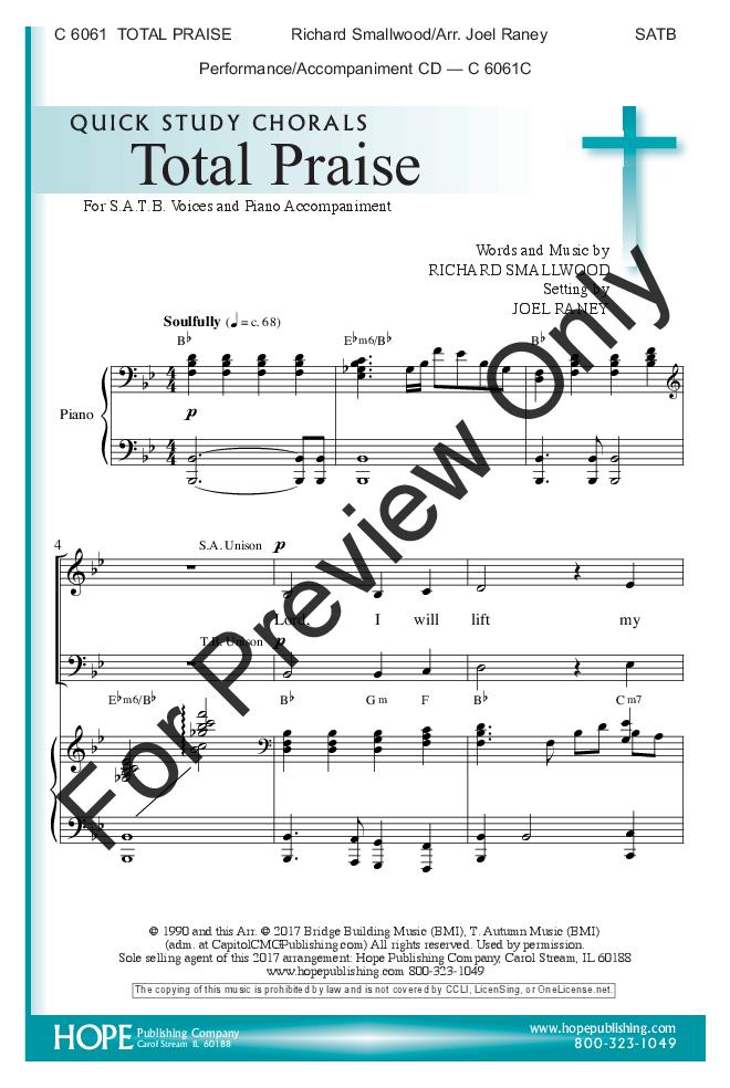 Total Praise Satb By Richard Smallwoodar Jw Pepper Sheet Music