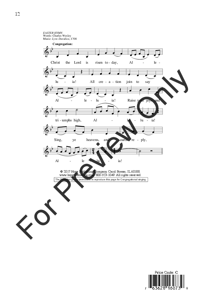 Christ Is Risen Alleluia Satb With Opt T Jw Pepper Sheet Music