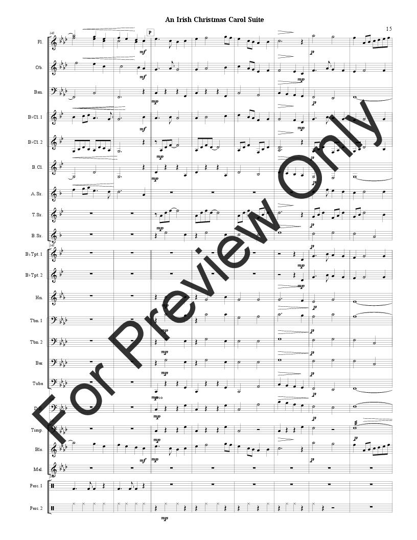 An Irish Christmas Carol Suite by Traditional / B | J.W. Pepper ...