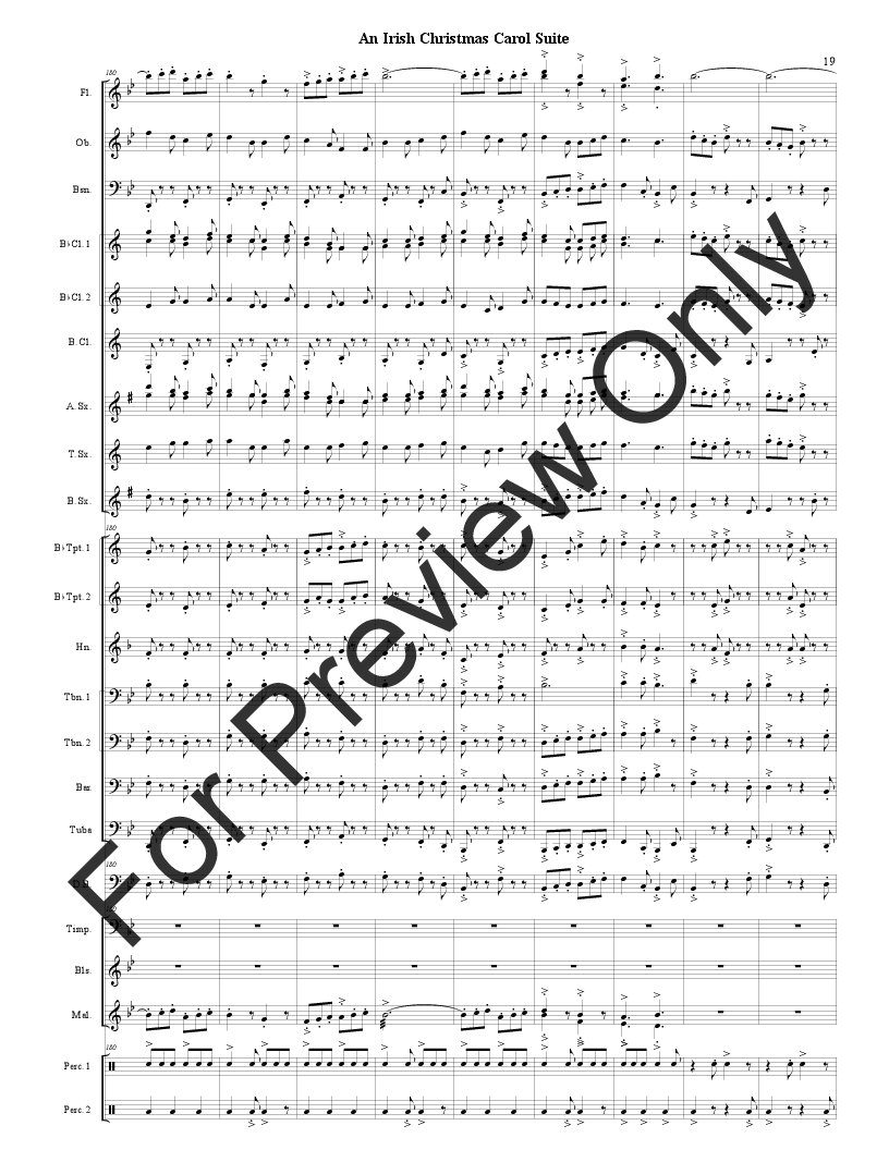 An Irish Christmas Carol Suite by Traditional / B   J.W. Pepper ...