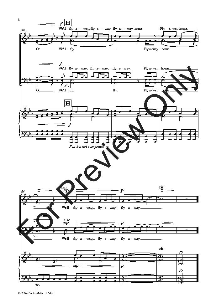 Fly Away Home (SATB ) by Pinkzebra  J.W. Pepper Sheet Music