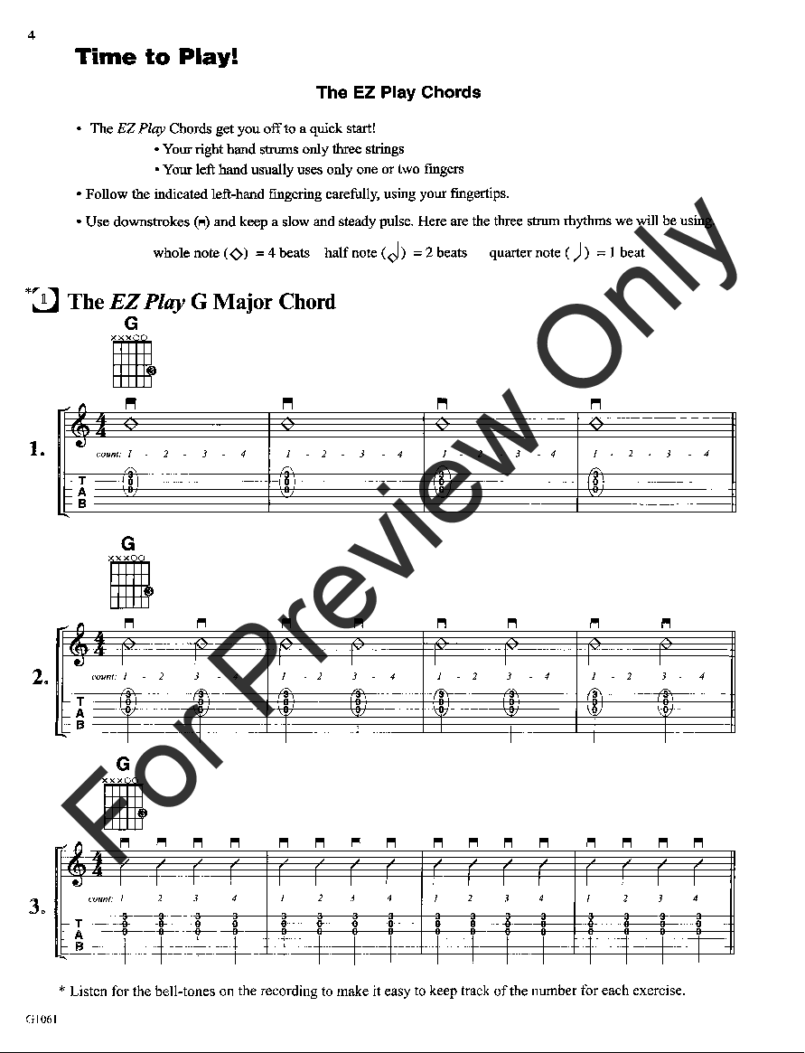 My First Easy To Play Guitar Chord Book By Philip Jw Pepper