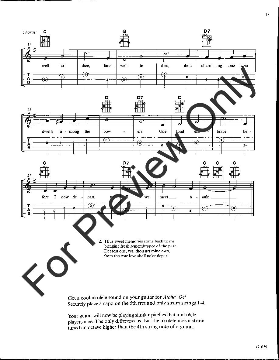 The Big Easy Songbook For Guitar With Tablature Jw Pepper