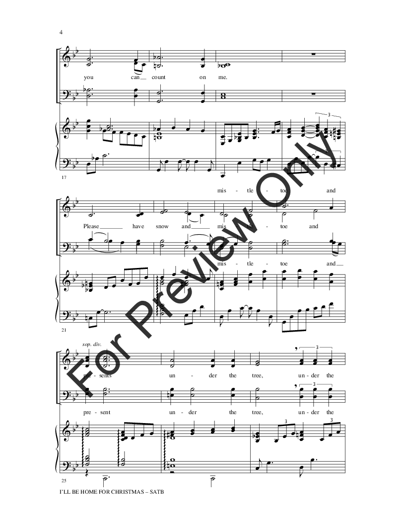 I\'ll Be Home for Christmas (SATB ) by Kim Ga | J.W. Pepper Sheet Music
