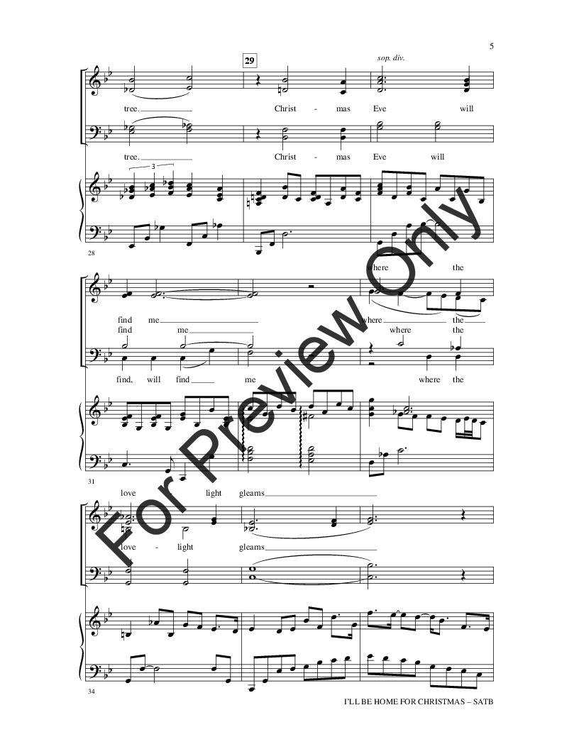 I\'ll Be Home for Christmas (SATB ) by Kim Ga | J.W. Pepper Sheet Music
