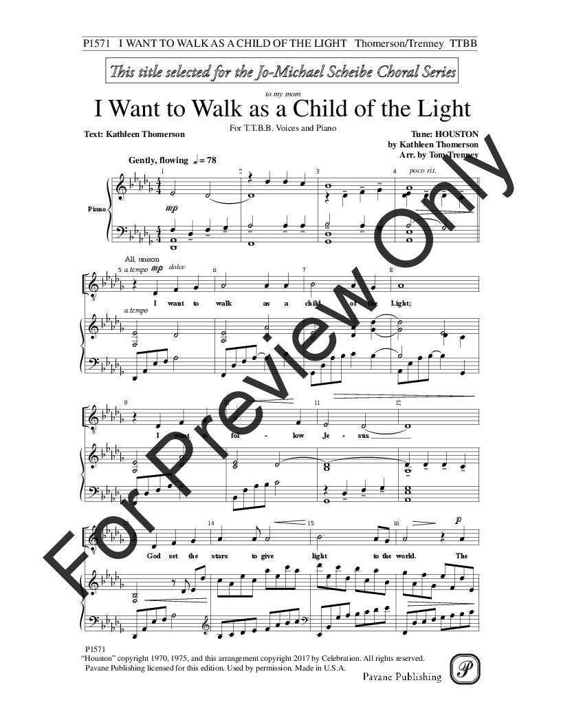 I Want to Walk as a Child of the Light Thumbnail