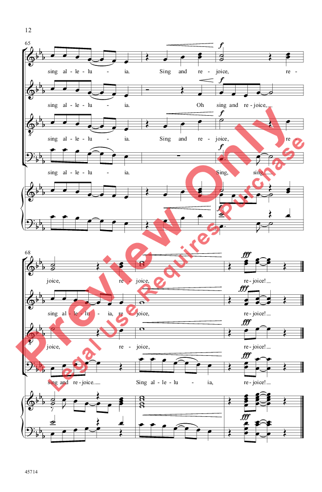 Sing and Rejoice! (SSATB ) by Sally K. Albre   J.W. Pepper Sheet Music