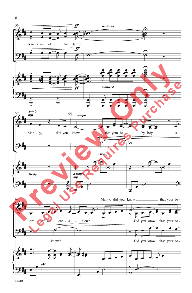Mary, Did You Know? (SAB ) arr. Tim Hayden| J.W. Pepper Sheet Music