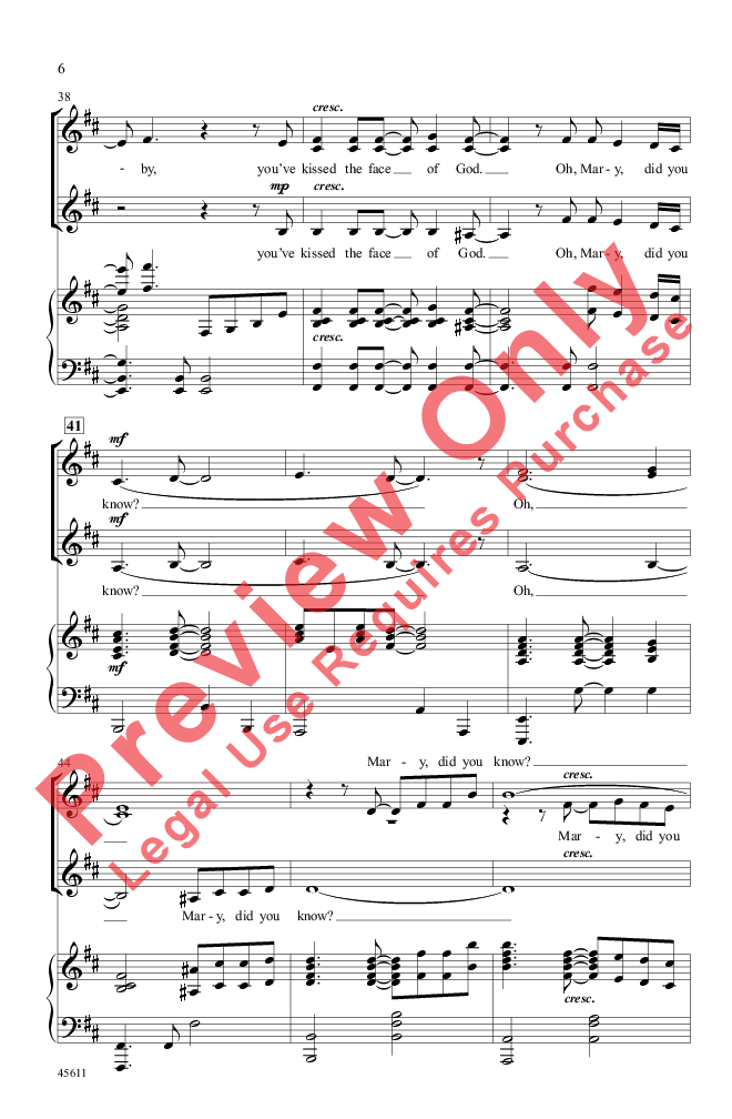 Mary Did You Know Ssa Arr Tim Hayden Jw Pepper Sheet Music