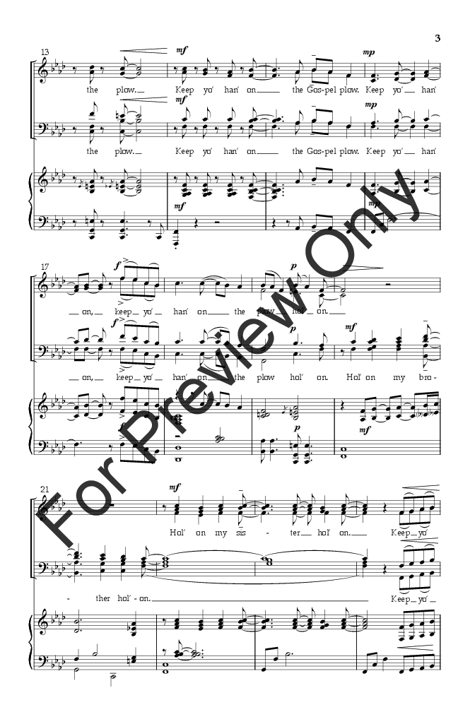Hold On Satb Arr Brandon A Boyd Jw Pepper Sheet Music