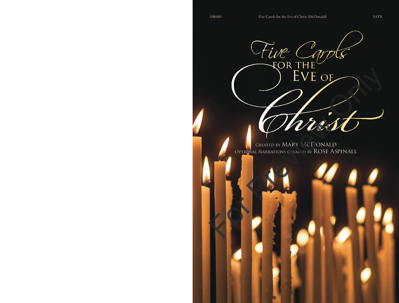 Five Carols for the Eve of Christ (SATB Chor | J.W. Pepper Sheet Music