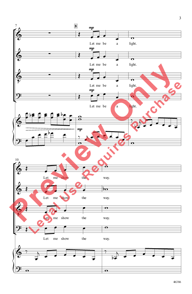 The Lighthouse Satb By Andy Beck Jw Pepper Sheet Music
