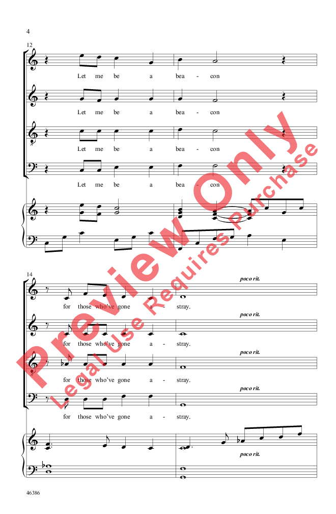 The Lighthouse (SATB ) by Andy Beck| J.W. Pepper Sheet Music