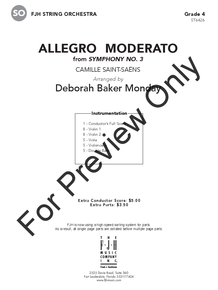 Allegro Moderato from Symphony No. 3 Thumbnail