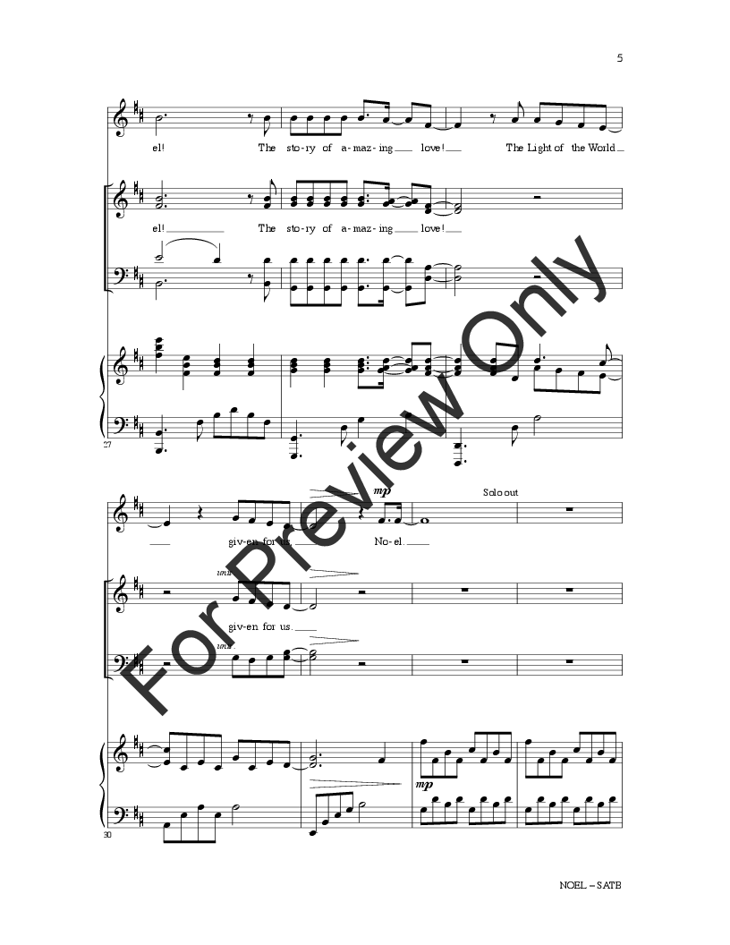 Noel (SATB ) by Matt Redman, Chris Tomlin & | J.W. Pepper Sheet Music