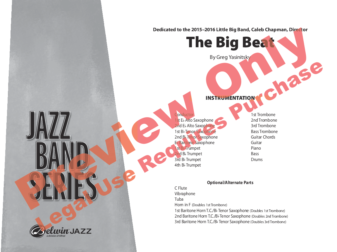 The Big Beat Additional Score By Gregory Jw Pepper Sheet Music