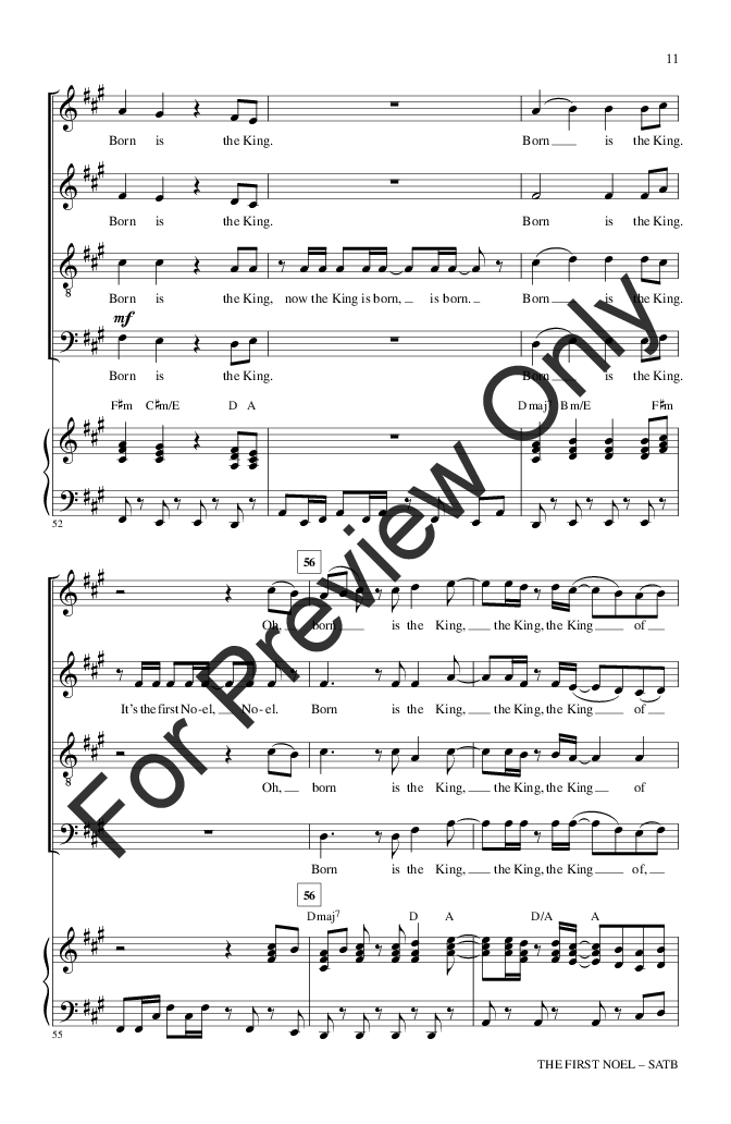 The First Noel Satb Arr Audrey Snyder Jw Pepper Sheet Music