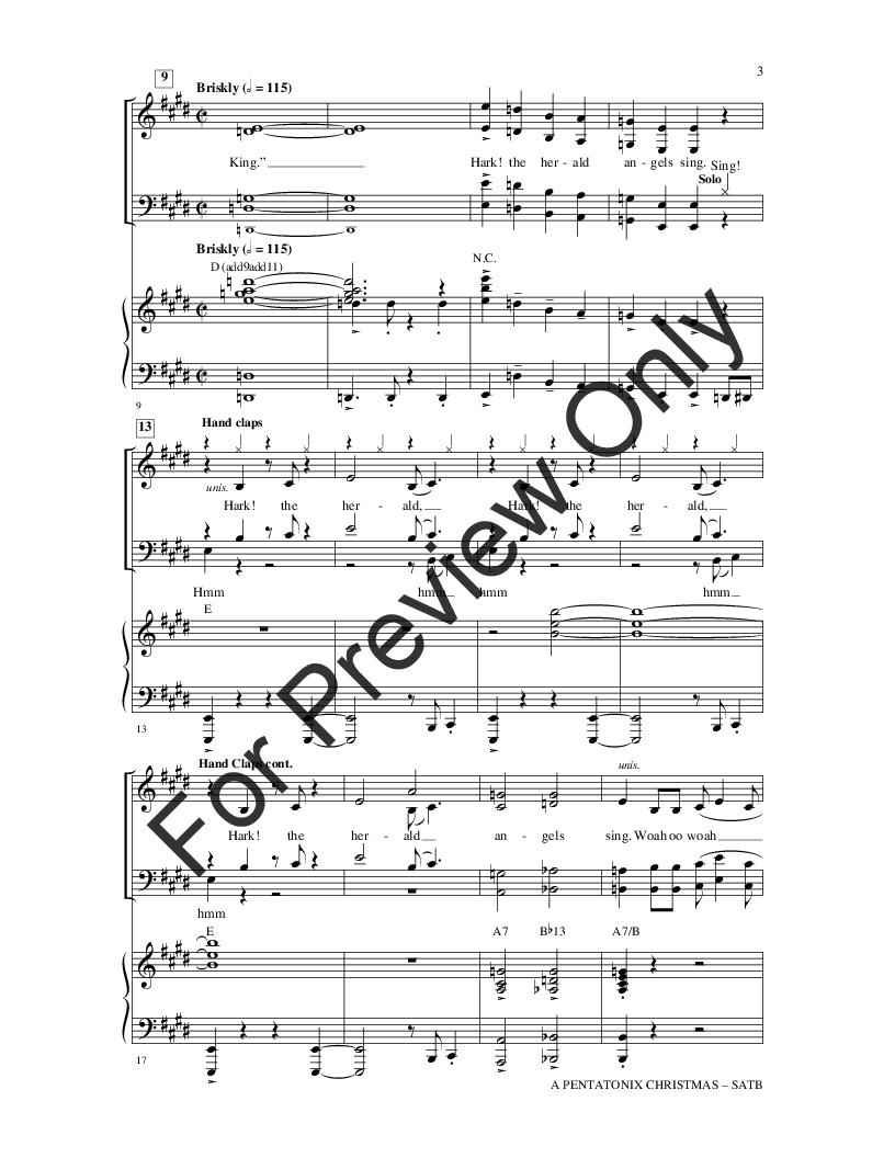 A Pentatonix Christmas (SATB with Piano) arr | J.W. Pepper Sheet Music