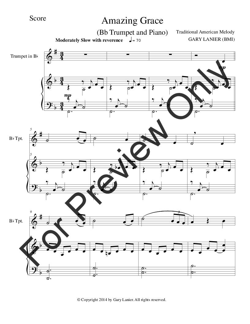Amazing Grace Trumpet Sheet Music Ibovnathandedecker
