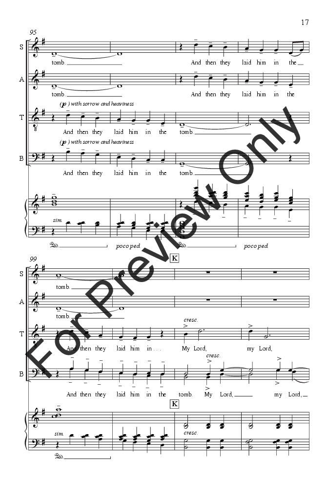 Were You There Satb By Gwyneth Walker Jw Pepper Sheet Music