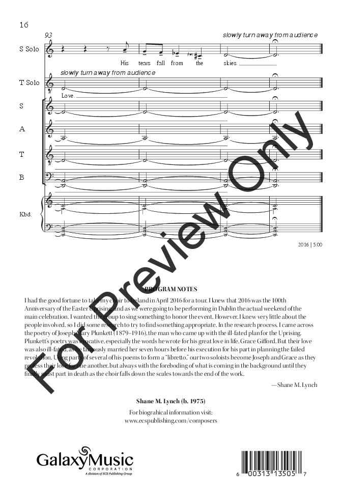 Joseph And Grace Satb Divisi By Shane M L Jw Pepper Sheet Music