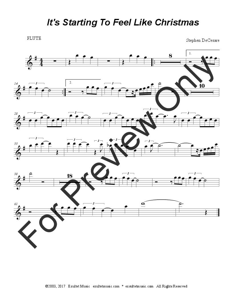 It\'s Starting To Feel Like Christmas (Vocal   J.W. Pepper Sheet Music