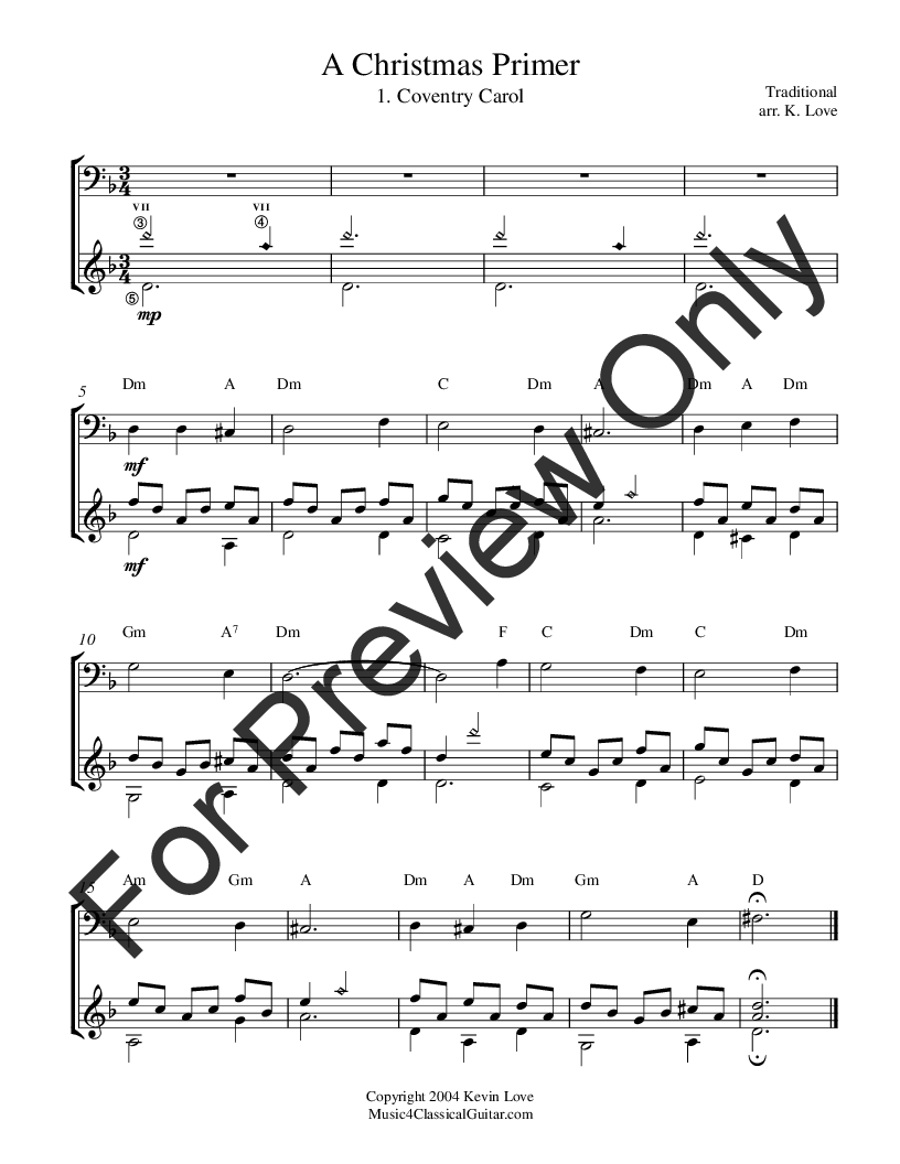 A Christmas Primer (Cello and Guitar) by Various | J.W. Pepper Sheet ...