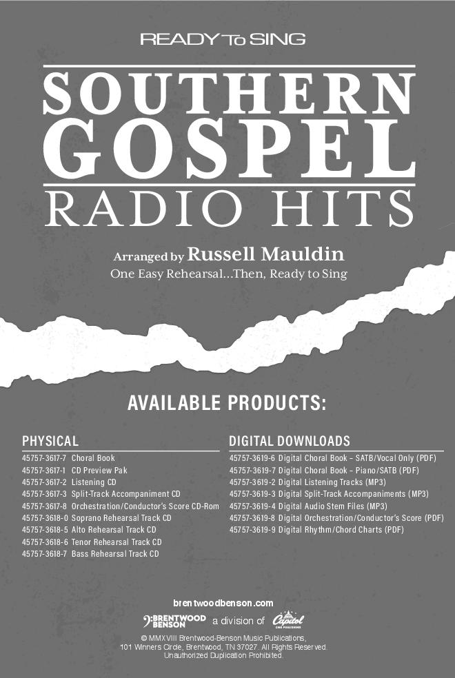 Ready To Sing Southern Gospel Radio Hits Satbnb Jw Pepper