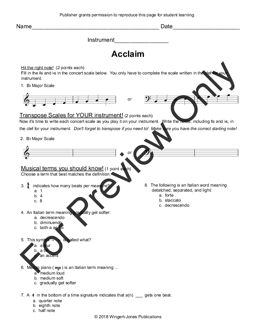 Acclaim By Rob Grice Jw Pepper Sheet Music