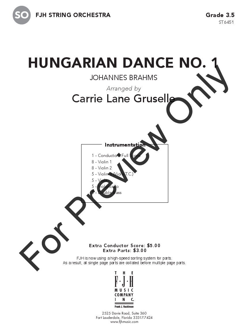 Hungarian Dance No. 1 Thumbnail