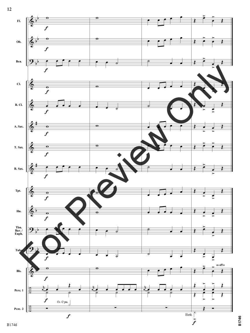Band On The Housetop By Benjamin R Hanby Arr Ti J W