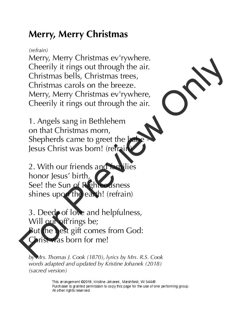 merry merry christmas mrs thomas j cook kristine johanek kristine johanek - Merry Merry Merry Christmas Lyrics
