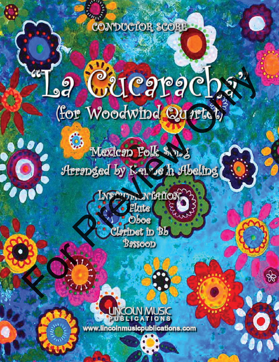 la cucaracha (woodwind quartet ) by tra   j.w. pepper sheet music  jw pepper
